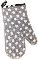 Two Lump of Sugar Silicone Printed Fabric Lined Oven Mitt Glove (Block Polka Dot)