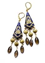 David Aubrey Art Deco Dangle Earrings