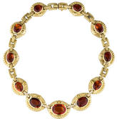 Judith Ripka Madiera Citrine & Diamond Collar