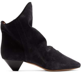 Isabel Marant Doey Suede Ankle Boots - Womens - Black