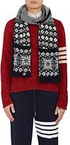 Thom Browne Men's Fair Isle Wool-Mohair Scarf