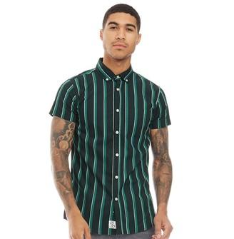 Fluid Mens Striped Short Sleeve Shirt Navy/Multi