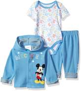 Disney Baby Mickey Mouse 3 Piece Hoodie, Bodysuit OR T-shirt, Pant Set