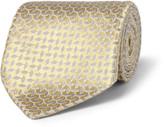 Charvet Leaf-Pattern Silk Tie