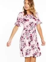 Very Ruffle Sleeve Smock Dress