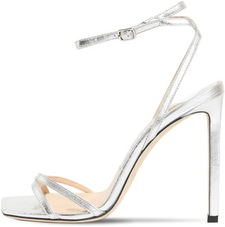 Jimmy Choo 100mm Metz Metallic Leather Sandals