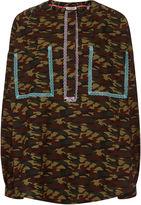 Natasha Zinko Camo Lace Trim Oversized Shirt