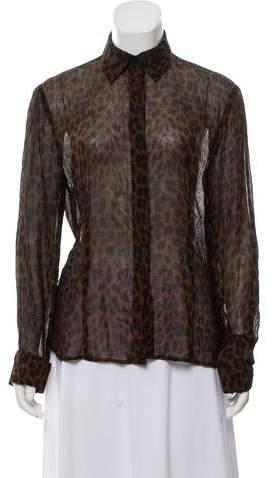 653dc04a6bce1 Patterned Silk Blouse - ShopStyle