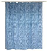 Threshold Shower Curtain - Block Blue/White