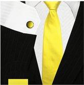Bestow Neckties Bestow Plain Yellow Tie Set   Necktie