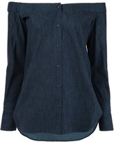 Rag & Bone off-the-shoulder shirt - women - Cotton - M