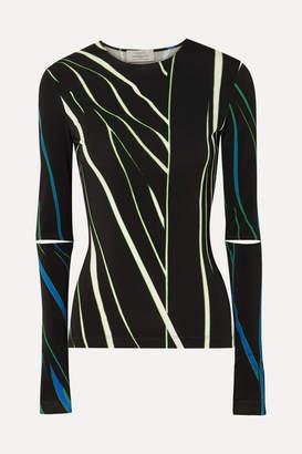 Preen by Thornton Bregazzi Dee Cutout Printed Stretch-jersey Top - Black