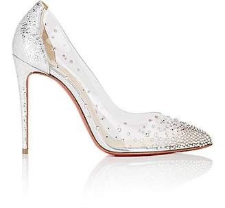 Christian Louboutin Women's Degrastrass PVC & Specchio Leather Pumps - Silver