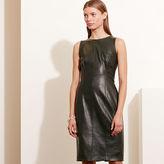 Ralph Lauren Faux-Leather Sheath Dress