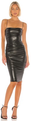 Nookie Posse Faux Leather Midi Dress