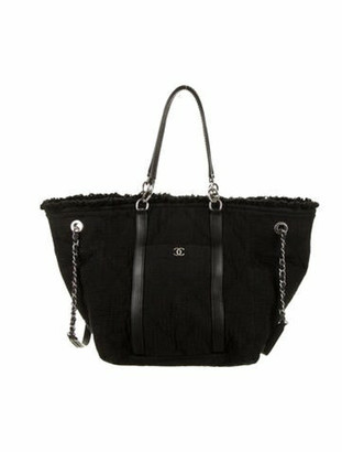 Chanel Small Double Face Shopping Tote Black