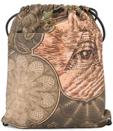 Givenchy Eye print drawstring backpack - men - Cotton/Polyamide/Polyurethane - One Size