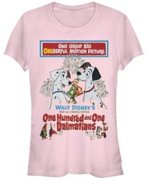 Fifth Sun Women's 101 Dalmatians Vintage-Like Poster Short Sleeve T-shirt