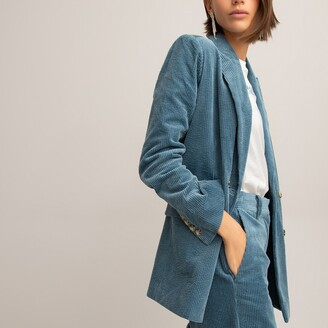 La Redoute Collections Corduroy Double-Breasted Blazer