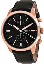 Fossil Townsman FS5097 Men's Rose Goldtone Stainless Steel Chronograph Watch