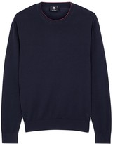 Ps By Paul Smith Navy Cotton Blend Jumper