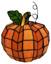 River of Goods Patch the Pumpkin Stained Glass Table Lamp in Orange