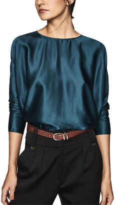 Reiss Keira Silk-Blend Top