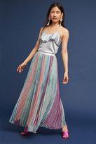 Anthropologie Lily Garden Pleated Skirt, Grey