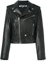 McQ by Alexander McQueen multi-zip biker jacket - women - Leather/Polyester - 40