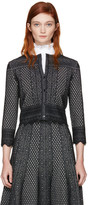Alexander McQueen Black Cropped Jacquard Cardigan