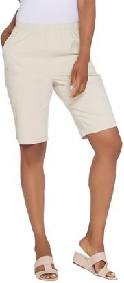 """Denim & Co. 11"""" Pull-on Side Pocket Shorts - Color"""