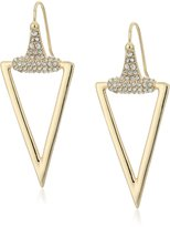 "ABS by Allen Schwartz Rebel Soul"" Triangle Drop Earrings"
