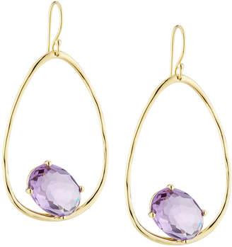 Ippolita Rock Candy 18k Large Suspension Earrings in Dark Amethyst