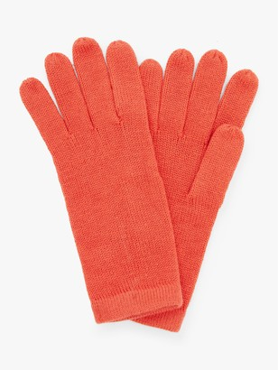John Lewis & Partners Plain Knitted Jersey Gloves