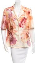 Salvatore Ferragamo Silk Printed Blouse w/ Tags