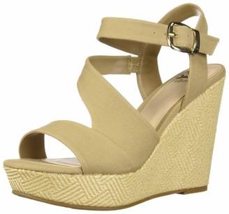 Fergie Fergalicious Women's Vantage Wedge Sandal Beige 10 M US