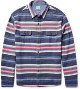 Faherty Durango Cpo Striped Cotton Overshirt