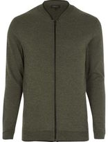 River Island Green Cardigan Bomber Jacket