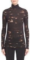 Akris 'Mac' Gnu Print Cashmere & Silk Jersey Top