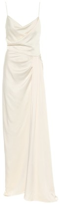Monique Lhuillier Bridal satin slip gown