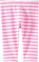 Joe Fresh Toddler Girls' Essential Stripe Legging, Light Neon Pink (Size 2)