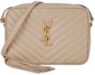 Saint Laurent Lou Almond Leather Cross-body Bag