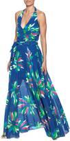 Gracia Blue Floral Maxi