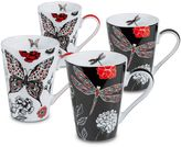 Konitz Dragonfly and Butterfly Mugs (Set of 4)