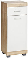 Premier Housewares Whitewash Oak Effect Floorstanding Unit