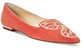 Sophia Webster Women's Butterfly Embroidery Flats - 100% Exclusive