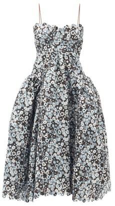Cecilie Bahnsen Leandra Floral Macrame-lace Gown - Light Blue