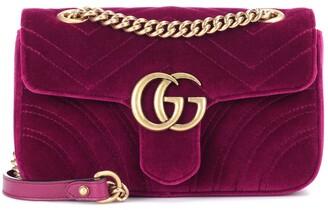 Gucci GG Marmont Mini velvet shoulder bag