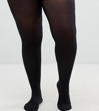 ASOS DESIGN Curve 60 denier black tights in super stretch fit
