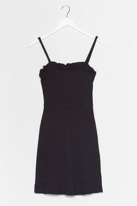 Nasty Gal Womens Ruffle Up Trouble Mini Dress - Black